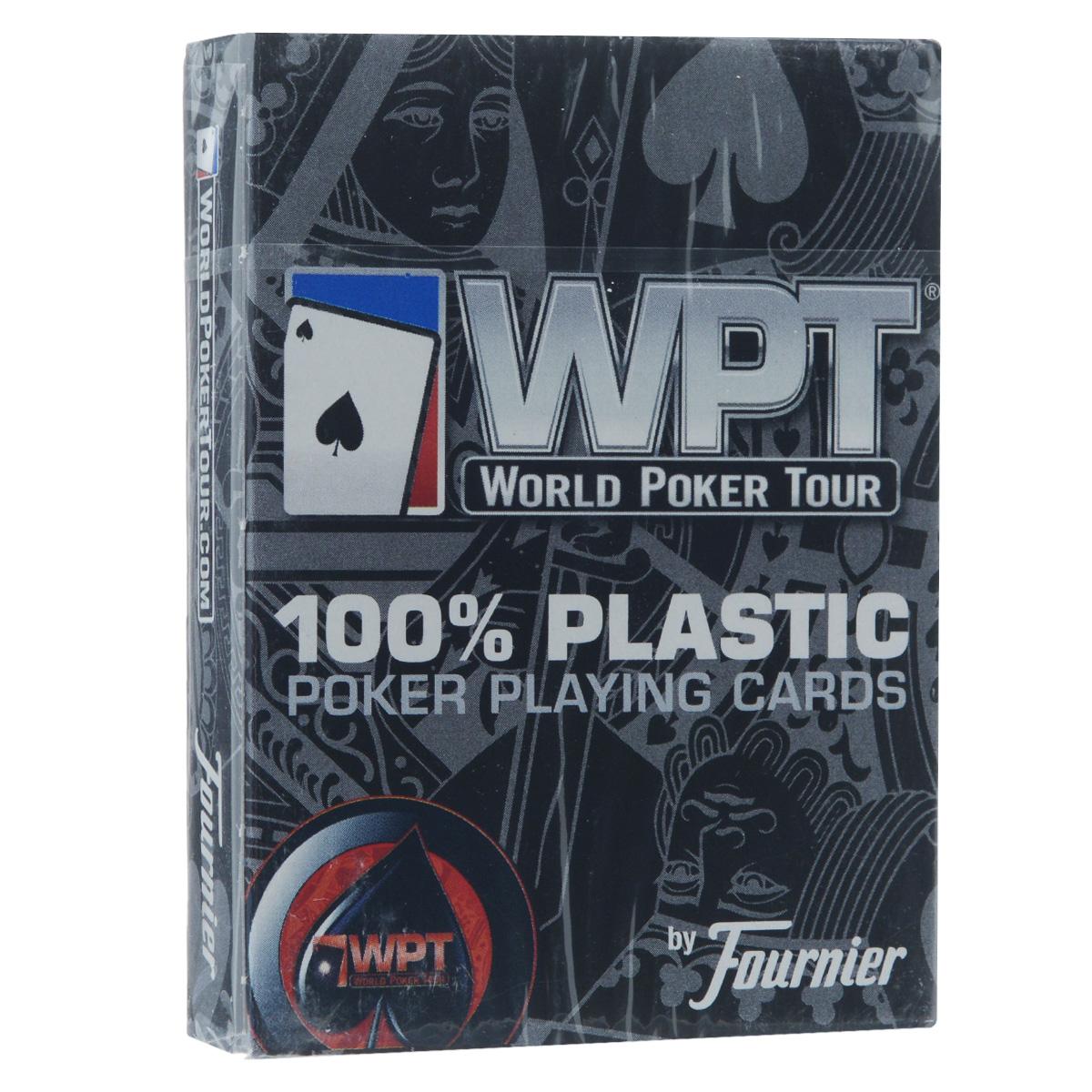 Карты игральные Fournier WPT, цвет: красный, 55 штFOURNIER_WPT_RED