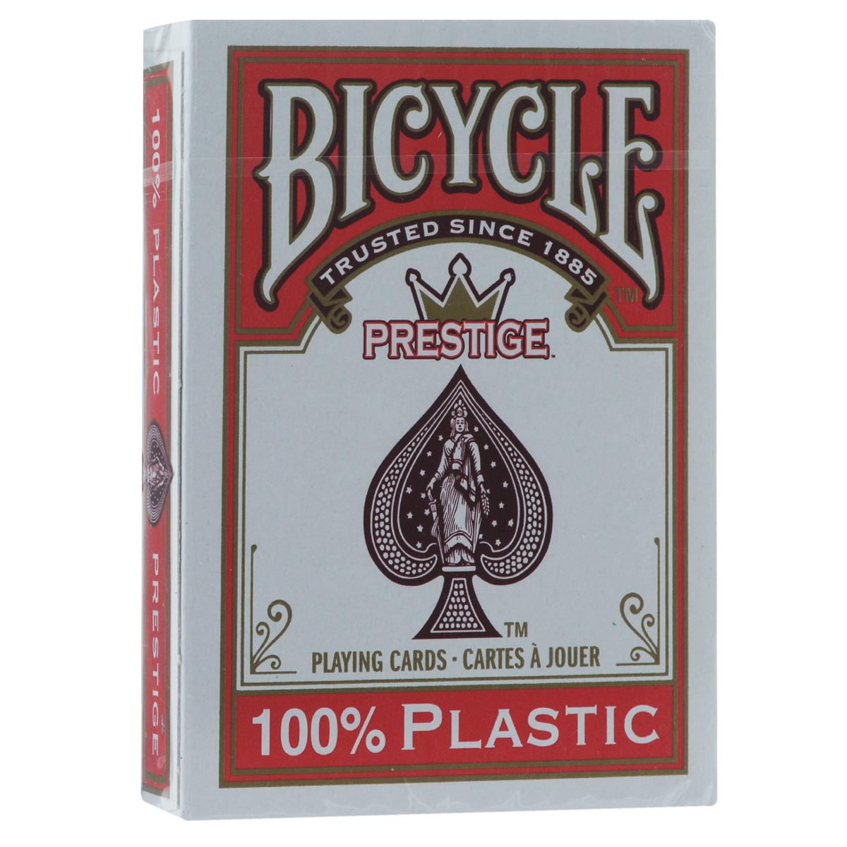 Карты игральные Bicycle Prestige Rider Back, цвет: красный, 54 штBICYCLE_PREST_RED