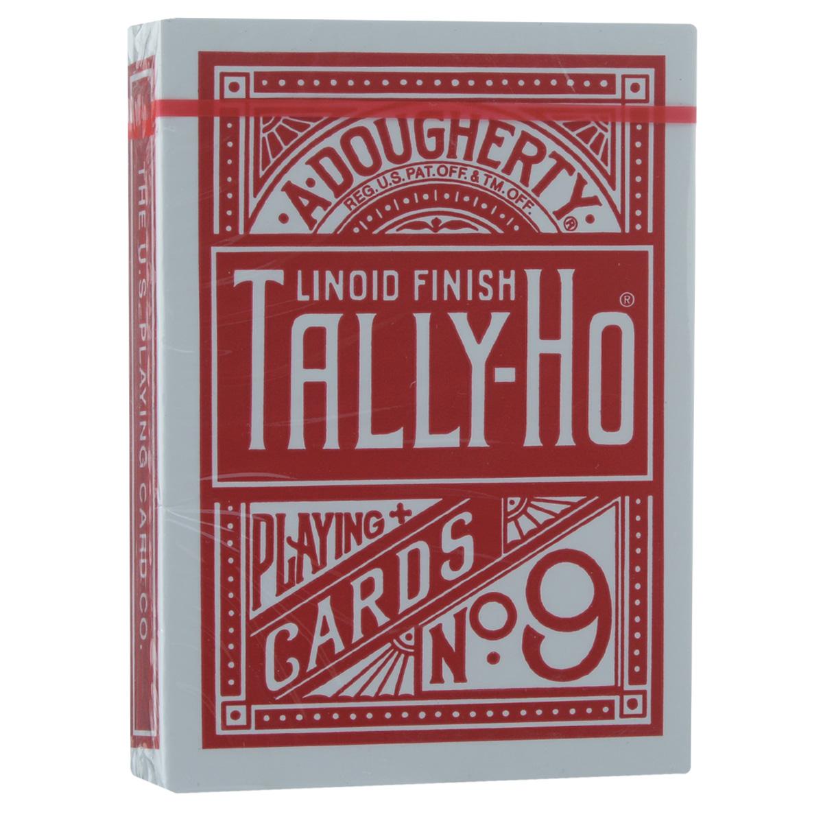 Игральные карты Tally-Ho Fan Back, цвет: красный, 54 штTALLY_FAN_REDИгральные карты Tally-Ho Fan Back изготовлены из многослойного картона со специальным пластиковым покрытием Linoid Finish, которое обеспечивает хорошее скольжение и жесткость, а также сохраняет карты от выцветания и изнашивания. Карты стандартного покерного размера и дизайна. Рубашки имеют красивый рисунок в китайском стиле с белой окантовкой. С такими картами очень просто сделать веер и флориш, они легко летают, идеально подходят для фокусов, различных трюков и манипуляций.