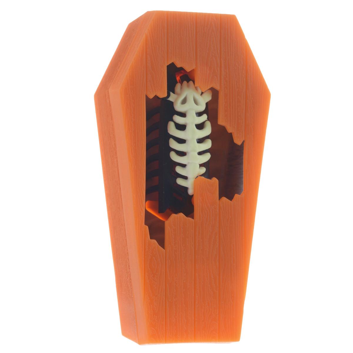 Микро-робот Hexbug NanoZombie, цвет: оранжевый477-2096_2Уникальный микро-робот Hexbug NanoZombie ведет себя словно это настоящее ползающее насекомое: его движения также непредсказуемы и быстры. Благодаря оригинальной конструкции микро-робот может самостоятельно бегать в поисках выхода из сложных лабиринтов. Игрушка изготовлена из безопасного пластика и выполнена в виде насекомого с двенадцатью лапками. Скелет на верхней части микро-робота фосфоресцентный, благодаря чему светиться в темноте. Для включения необходимо перевести выключатель в положение On. Микро-робот Hexbug NanoZombie упакован в пластиковую коробочку в виде гроба. Для работы игрушки необходима 1 батарея типа LR44 (входят в комплект).