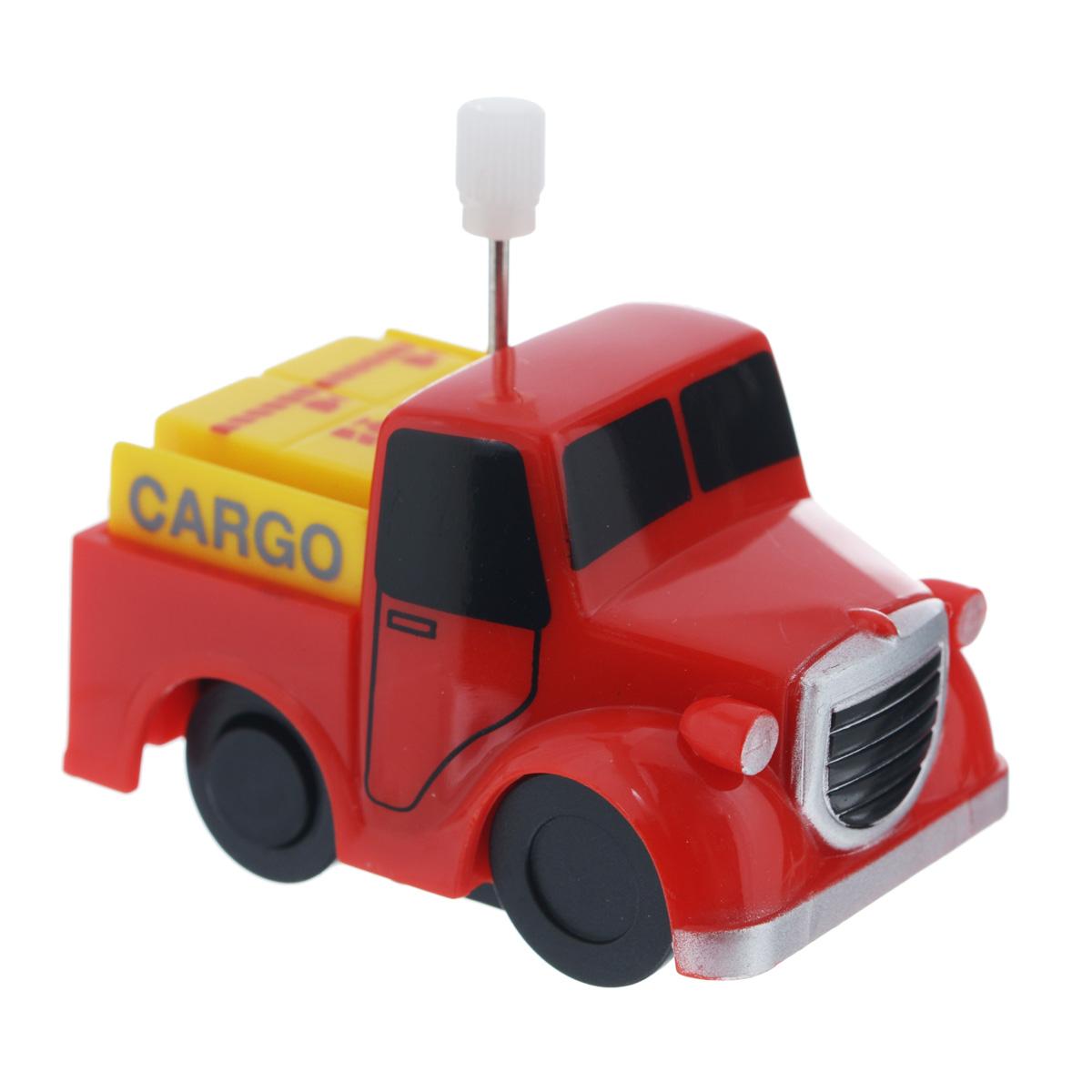 Игрушка заводная Грузовичок Cargo2K-012BD_ CargoИгрушка Hans Грузовичок Cargo привлечет внимание вашего малыша и не позволит ему скучать! Выполненная из безопасного пластика, игрушка представляет собой грузовичок. Игрушка имеет механический завод. Для запуска, придерживая колеса, поверните заводной ключ по часовой стрелке до упора. Установите игрушку на поверхность и она поедет вперед. Заводная игрушка Hans Грузовичок Cargo поможет ребенку в развитии воображения, мелкой моторики рук, концентрации внимания и цветового восприятия.