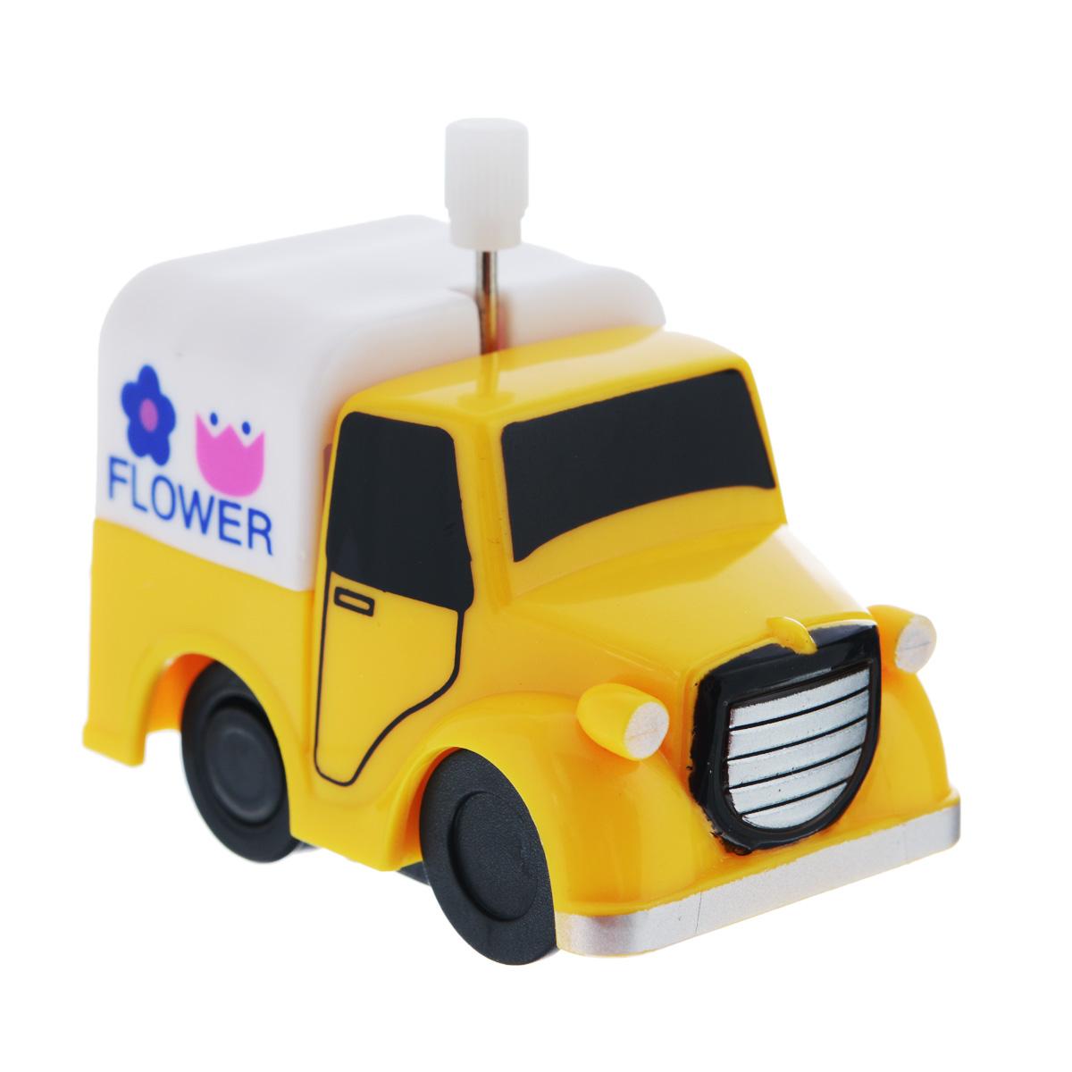 Игрушка заводная Грузовичок Flower2K-012BD_ FlowerИгрушка Hans Грузовичок Flower привлечет внимание вашего малыша и не позволит ему скучать! Выполненная из безопасного пластика, игрушка представляет собой грузовичок. Игрушка имеет механический завод. Для запуска, придерживая колеса, поверните заводной ключ по часовой стрелке до упора. Установите игрушку на поверхность и она поедет вперед. Заводная игрушка Hans Грузовичок Flower поможет ребенку в развитии воображения, мелкой моторики рук, концентрации внимания и цветового восприятия.