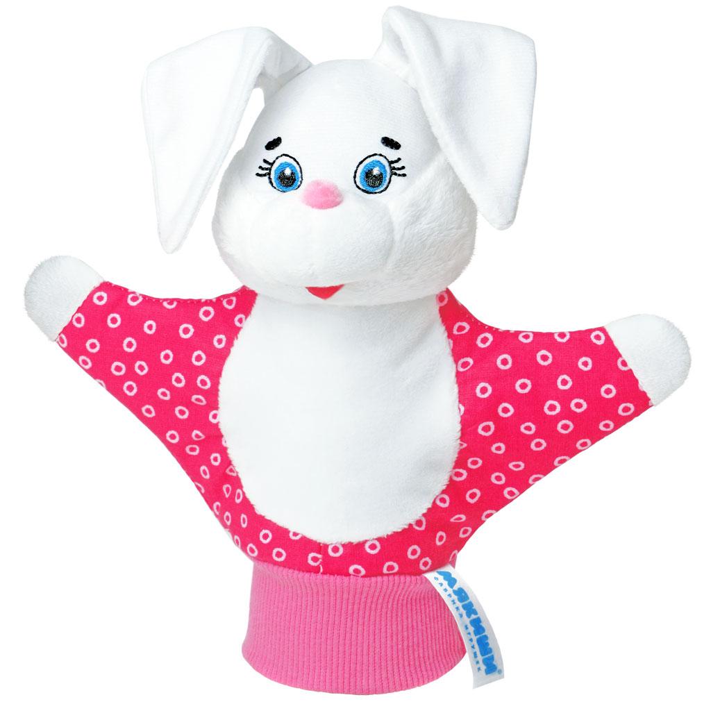 Мягкая игрушка на руку Зайка, 22 см, в ассортименте119Мягкая игрушка на руку Зайка привлечет внимание малыша и не позволит ему скучать. Игрушка выполнена из высококачественной разнофактурной ткани и мягкого наполнителя, что позволяет ей быть абсолютно безопасной в игре. Забавная игрушка-рукавичка подходит для любого размера руки: и папиной ладошки, и маленькой детской ручки. В голове зайчика спрятана погремушка. Надев игрушку на руку, вы и ваш малыш сможете разыграть различные сценки из любимых мультфильмов или собственные придуманные истории. Постановка домашнего спектакля - всегда незабываемое событие и для актеров и для зрителей. А для малышей, к тому же - важный шаг на пути к творческому самовыражению. Игрушка-рукавичка поможет укрепить мелкую моторику рук ребенка, развить его речевые способности и воображение.