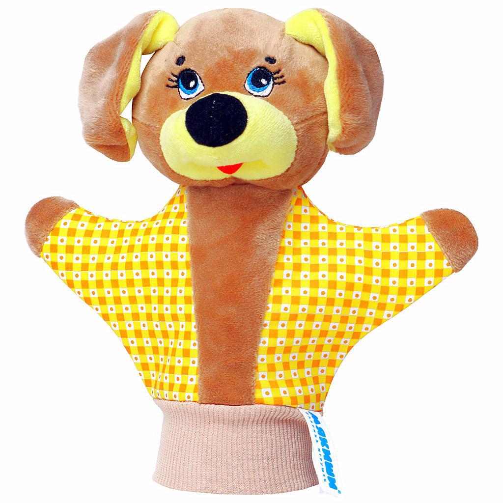 Мягкая игрушка на руку Собачка, 22 см123Мягкая игрушка на руку Собачка привлечет внимание малыша и не позволит ему скучать. Игрушка выполнена из высококачественной разнофактурной ткани и мягкого наполнителя, что позволяет ей быть абсолютно безопасной в игре. Забавная игрушка-рукавичка подходит для любого размера руки: и папиной ладошки, и маленькой детской ручки. В голове собачки спрятана погремушка. Надев игрушку на руку, вы и ваш малыш сможете разыграть различные сценки из любимых мультфильмов или собственные придуманные истории. Постановка домашнего спектакля - всегда незабываемое событие и для актеров и для зрителей. А для малышей, к тому же - важный шаг на пути к творческому самовыражению. Игрушка-рукавичка поможет укрепить мелкую моторику рук ребенка, развить его речевые способности и воображение. Характеристики: Материал: пластик, текстиль. Высота игрушки: 22 см.