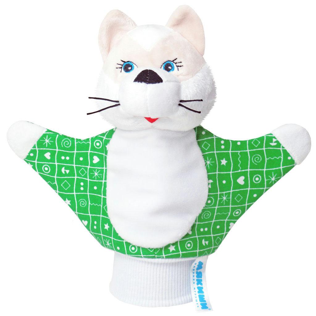Мягкая игрушка на руку Котенок, 22 см в ассортименте124Мягкая игрушка на руку Котенок привлечет внимание малыша и не позволит ему скучать. Игрушка выполнена из высококачественной разнофактурной ткани и мягкого наполнителя, что позволяет ей быть абсолютно безопасной в игре. Забавная игрушка-рукавичка подходит для любого размера руки: и папиной ладошки, и маленькой детской ручки. В голове котенка спрятана погремушка. Надев игрушку на руку, вы и ваш малыш сможете разыграть различные сценки из любимых мультфильмов или собственные придуманные истории. Постановка домашнего спектакля - всегда незабываемое событие и для актеров и для зрителей. А для малышей, к тому же - важный шаг на пути к творческому самовыражению. Игрушка-рукавичка поможет укрепить мелкую моторику рук ребенка, развить его речевые способности и воображение.