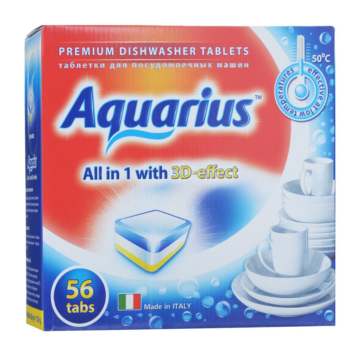 Таблетки для посудомоечных машин Lotta Aquarius, 56 шт16243Таблетки Lotta Aquarius предназначены для посудомоечных машин. Специальная пена с 3D-эффектом придает идеальную чистоту и сияющий блеск вашей посуде со всех сторон. Таблетки эффективны даже при низких температурах мойки - около 30°С. Для этого необходимо снять защитную пленку, положить таблетку в кювету машины и включить необходимую программу. В комплект входит 56 штук. Вес одной таблетки: 20 г. Состав: триполифосфат натрия, поликарбоксилат, неионные ПАВ, энзимы, ароматизатор. Товар сертифицирован.
