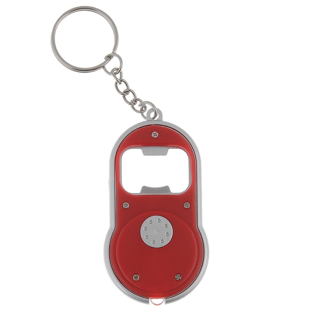 Брелок-открывалка для бутылок Bradex, с фонариком, цвет: красный, 4 см х 7 смTD 0285Простой и удобный аксессуар Bradex является сочетанием двух вещей, которые существенно облегчают повседневную жизнь. Брелок оснащен открывалкой и фонариком и легко крепится на сумке, связке ключей или легко помещается в кармане, чтобы быть под рукой в нужный момент. Работает от 2 батареек типа CR1120 (входят в комплект). Размер брелока: 4 см х 7 см х 0,7 см.