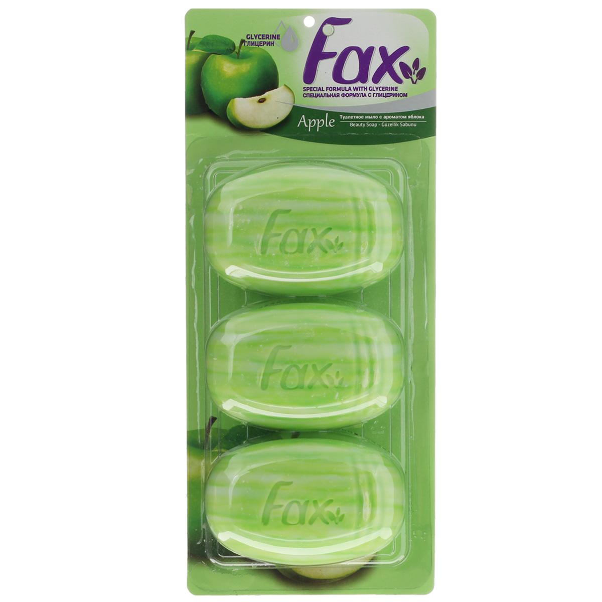 FAX Мыло с глицерином Яблоко блистер 3*115г80019904Специальная формула с глицерином и кремом питает и увлажняет кожу для ежедневной заботы
