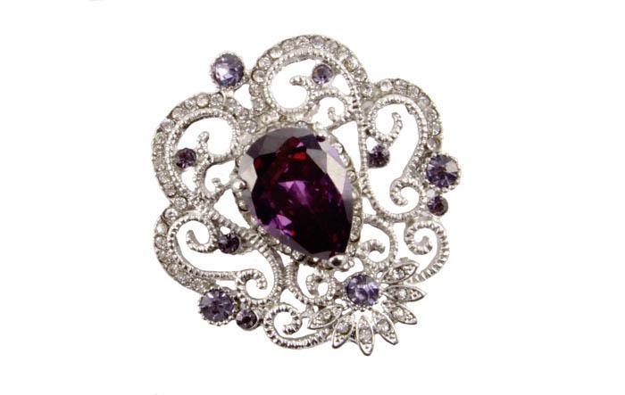 """Брошь """"Элизиум"""" в византийском стиле. Металл, австрийские кристаллы. Конец XX века"""