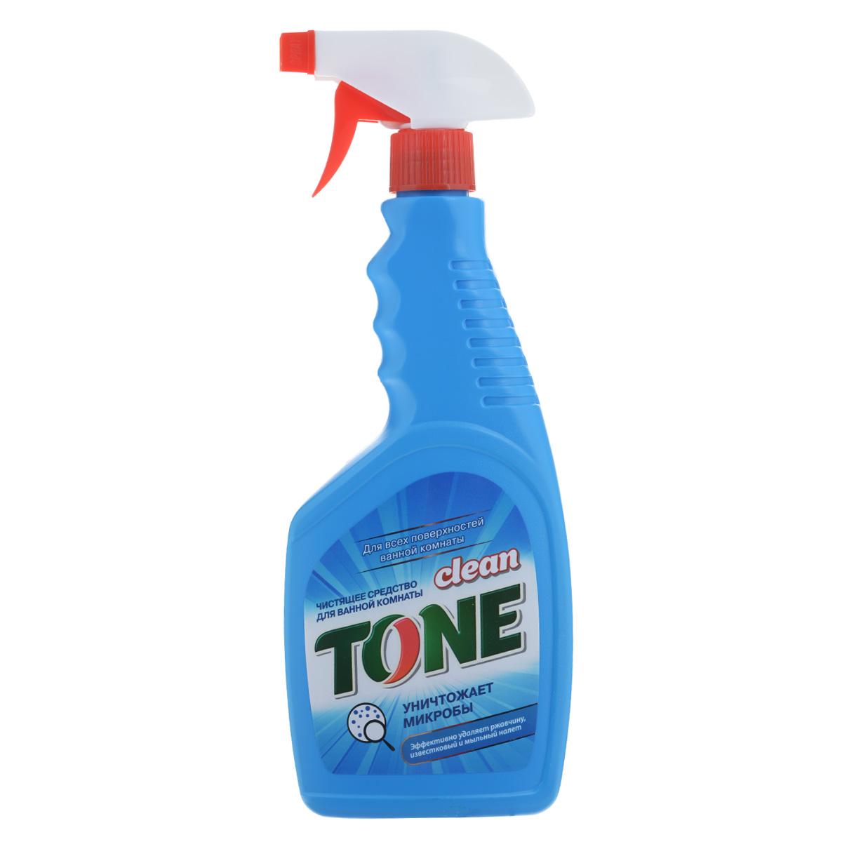 Чистящее средство Clean Tone для ванной комнаты, 500 мл1958Чистящее средство Clean Tone предназначено для мытья и антибактериальной обработки кафельной плитки, ванны, душевой кабины, смесителей и других поверхностей ванной комнаты. Средство защищает поверхность, придает ей блеск, не оставляет разводов и дарит аромат свежести. Состав: 30% и более: вода питьевая очищенная; 5% и более, но менее 15%: неионогенных ПАВ; менее 5%: органические кислоты, органический растворитель, бензалкония хлорид, отдушка. Товар сертифицирован.
