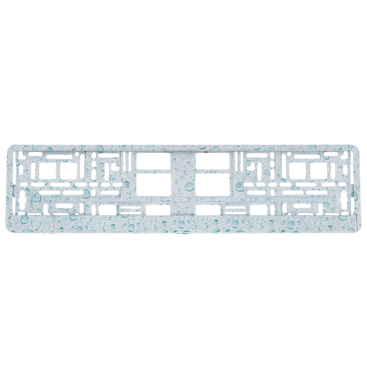Рамка под номер Пузыри, цвет: голубойЗ0000014146Рамка Пузыри не только закрепит регистрационный знак на вашем автомобиле, но и красиво его оформит. Основание рамки выполнено из полипропилена, материал лицевой панели - пластик. Она предназначена для крепления регистрационного знака российского и европейского образца, декорирована принтом. Устанавливается на все типы автомобилей. Крепления в комплект не входят. Стильный дизайн идеально впишется в экстерьер вашего автомобиля. Размер рамки: 53,5 см х 13,5 см. Размер регистрационного знака: 52,5 см х 11,5 см.