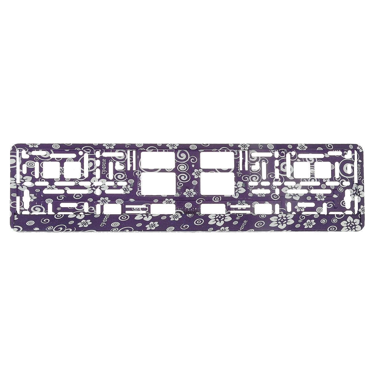 Рамка под номер Цветы, цвет: фиолетовыйЗ0000014150Рамка Цветы не только закрепит регистрационный знак на вашем автомобиле, но и красиво его оформит. Основание рамки выполнено из полипропилена, материал лицевой панели - пластик. Она предназначена для крепления регистрационного знака российского и европейского образца, декорирована принтом. Устанавливается на все типы автомобилей. Крепления в комплект не входят. Стильный дизайн идеально впишется в экстерьер вашего автомобиля. Размер рамки: 53,5 см х 13,5 см. Размер регистрационного знака: 52,5 см х 11,5 см.