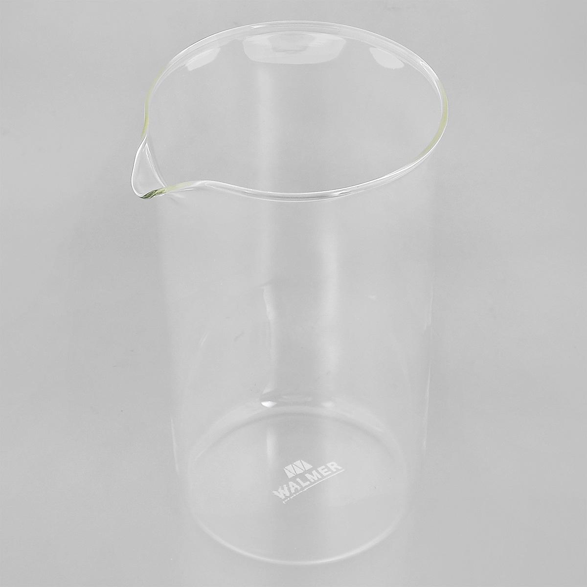 Колба для кофейников Walmer, 1 лW04001100Колба Walmer, изготовленная из высококачественного прозрачного стекла, предназначена для кофейников и френч-прессов. Изделие прекрасно подойдет для замены старой разбитой колбы. Это сосуд, который напрямую контактирует с напитком, поэтому он должен быть выполнен из качественных материалов. Изделие выдерживает высокие температуры и не мутнеет при многократном мытье. Данная колба прослужит вам надежно и долго. Можно мыть в посудомоечной машине. Диаметр: 10 см. Высота: 18 см. Объем: 1 л.