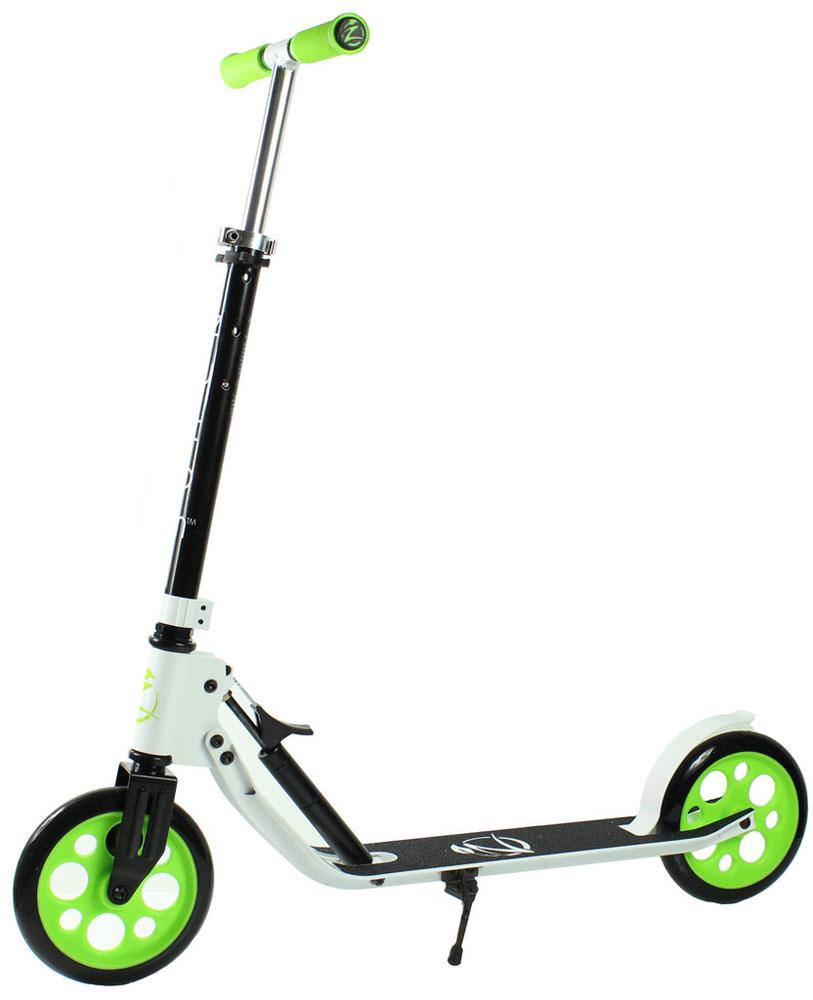 Самокат Zycom Easy Ride 200, цвет: белый, зеленый204-481Самокат Zycom Easy Ride 200 выполнен из алюминия, за счет чего он имеет небольшой вес. Высота руля регулируется. На руле имеются мягкие накладки. Самокат оснащен 2 большими полиуретановыми колесами. Дека имеет нескользящее покрытие. Самокат оборудован подножкой. Заднее колесо оснащено тормозом. Zycom Easy Ride 200 понравится всем любителям езды на самокате.