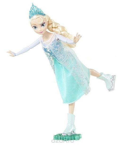 Disney Princess Кукла Холодное сердце Фигуристка ЭльзаCBC61/CBC63Кукла Disney Princess Холодное сердце. Фигуристка Эльза поможет вашей малышке окунуться в сказочный мир. Куколка выполнена в виде главной героини диснеевского мультфильма Холодное сердце. Куколка одета в платье с блестками и тонкую прозрачную накидку, а на светлых волосах куколки, заплетенных в косу, красуется голубая корона. На ногах - коньки. Ручки, ножки и голова куколки подвижны. В комплект входит специальная подставка, с помощью которой куколку можно катать, представляя, как грациозно она катается на коньках. Ваша малышка с удовольствием будет играть с этой куколкой, проигрывая сюжеты из мультсериала или придумывая различные истории.