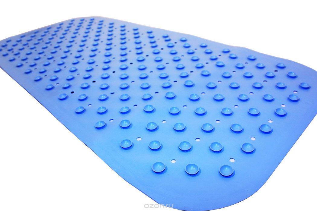 Антискользящий коврик Roxy-kids для ванны, цвет: голубой, 34,5 см х 76 смBM-34576_голубойПротивоскользящий коврик для ванны создан специально для детей и призван обеспечить комфортное и безопасное купание малышей в ванне. Он обладает целым рядом важных преимуществ. Мягкие присоски надежно прикрепляют коврик ко дну ванны и не дают ему скользить по ее поверхности, как бы активно ни двигался малыш. Специальное покрытие препятствует скольжению ног или тела ребенка по коврику. Поверхность коврика имеет рельефные элементы, обеспечивающие массажные функции, благодаря которым купание малыша в ванне станет не только простым и безопасным, но еще и полезным! Специальные отверстия позволяют воде легко стекать и обеспечивают более надежное крепление коврика к поверхности ванны. Оптимальный размер коврика 34 на 74 см делает его доступным для использования в любых ваннах, как в обычных больших, так и в детских ванночках и мини-бассейнах. Коврик выполнен в жизнерадостном салатовом цвете - он станет не только отличным помощником вам и вашему малышу, но и стильным аксессуаром! ...