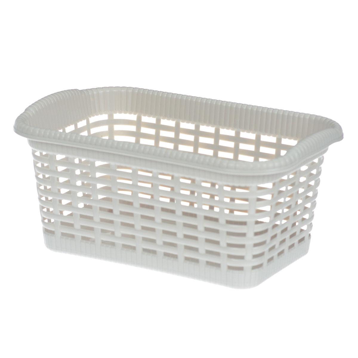 Корзина хозяйственная Gensini, цвет: светло-бежевый, 29 x 18,5 x 13,5 см3301_светло-бежевыйУниверсальная корзина Gensini, выполненная из пластика, предназначена для хранения мелочей в ванной, на кухне, даче или гараже. Позволяет хранить мелкие вещи, исключая возможность их потери. Легкая воздушная корзина выполнена под плетенку и оснащена жесткой кромкой. Размер: 29 см x 18,5 см x 13,5 см. Объем: 7 л.