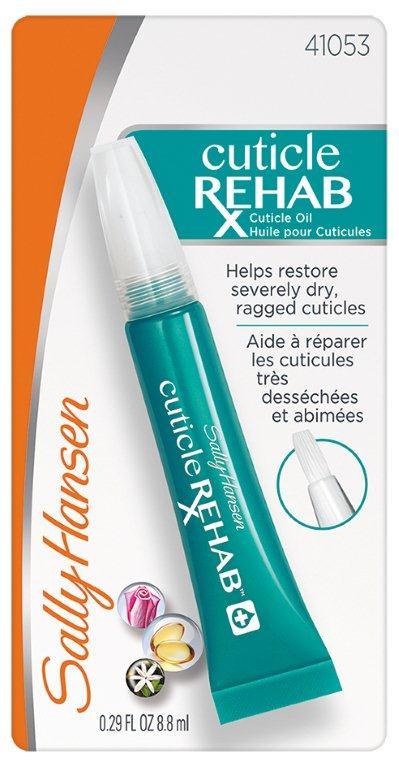 Sally Hansen Nailcare Средство для восстановленияия очень поврежденной кутикулы cuticle rehab, 8,8 мл30535265000Защищает, питает и восстанавливает сухую и поврежденную кутикулу. За кутикулой ухаживают увлажняющие экстракты жасмина и розы. Они успокаивают кожу, ухаживают за ней, она приобретает гладкий и здоровый внешний вид. Кутикула смягчается, становится мягкой, заусенцы больше не появляются. Питательная формула содержит витамин Е, благодаря которому ногти растут здоровыми, блестящими, эластичными и неломкими.
