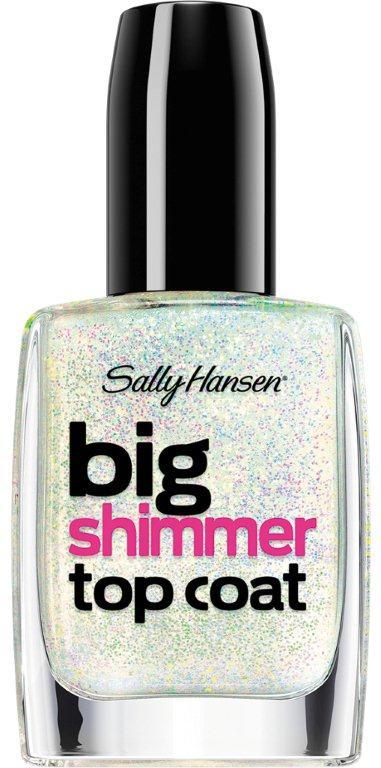 Sally Hansen Nailcare Верхнее покрытие для создания мерцающего эффекта big shimmer top coat тон 110, 14,7 мл30535742003Верхнее покрытие для создания мерцающего эффекта