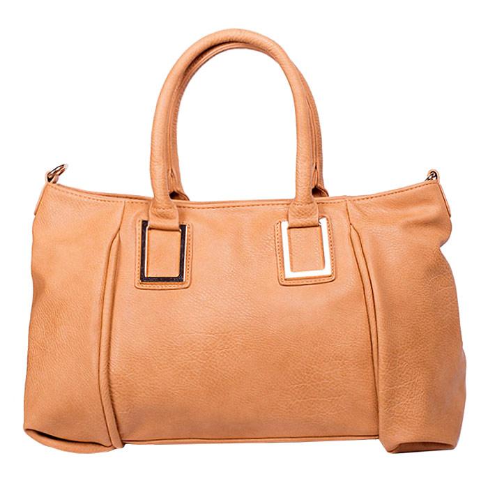Сумка женская Baggini, цвет: светло-коричневый. 29550/2429550/24Стильная женская сумка Baggini изготовлена из искусственной кожи. Модель закрывается на застежку-молнию. Внутри - одно отделение, разделенное средником с застежкой-молнией, также есть два накладных открытых кармашка и втачной карман на застежке-молнии. С внешней задней стороны - втачной карман на застежке-молнии. Дно дополнено металлическими ножками, защищающими изделие от повреждений. Сумка оснащена двумя удобными ручками и съемным наплечным ремнем, длина которого регулируется. Модная и элегантная сумка Baggini подчеркнет ваш яркий стиль и сделает образ завершенным.