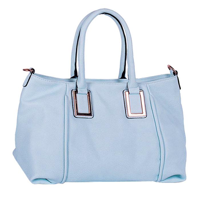 Сумка женская Baggini, цвет: голубой. 29550/4029550/40Стильная женская сумка Baggini изготовлена из искусственной кожи. Модель закрывается на застежку-молнию. Внутри - одно отделение, разделенное средником с застежкой-молнией, также есть два накладных открытых кармашка и втачной карман на застежке-молнии. С внешней задней стороны - втачной карман на застежке-молнии. Дно дополнено металлическими ножками, защищающими изделие от повреждений. Сумка оснащена двумя удобными ручками и съемным наплечным ремнем, длина которого регулируется. Модная и элегантная сумка Baggini подчеркнет ваш яркий стиль и сделает образ завершенным.