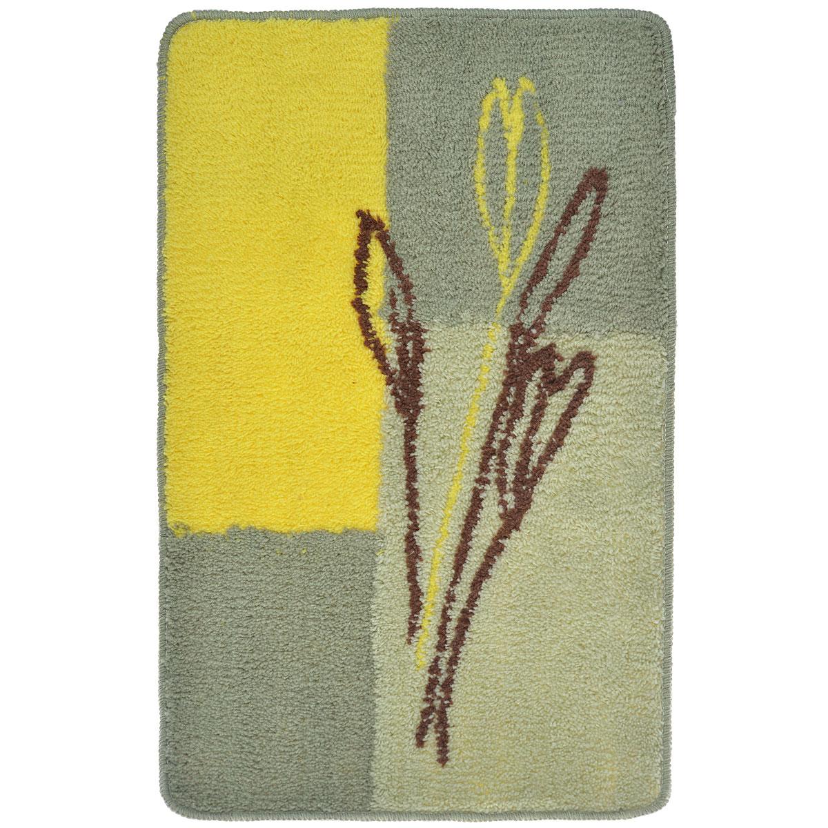 Коврик для ванной комнаты Fresh Code, цвет: зеленый, желтый, 80 х 50 см54930_зеленый,желтыйКоврик для ванной Fresh Code изготовлен из 100% акрила с латексной основой. Коврик, украшенный оригинальным рисунком, создаст уют в ванной комнате. Акриловый ворс коврика хорошо впитывает воду, создает комфортное покрытие. Рекомендации по уходу: - стирать в ручном режиме, - не использовать отбеливатели, - не гладить, - не подходит для сухой чистки (химчистки). Размер коврика: 80 см х 50 см.