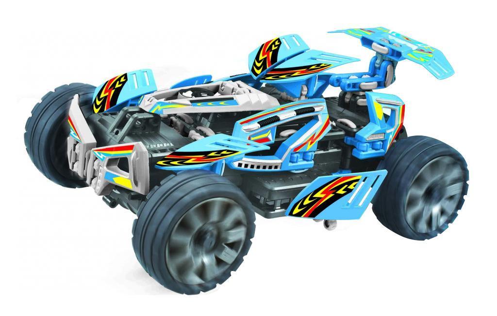 Balbi Машина-конструктор на радиоуправлении RCS-1003-BRCS-1003-BБагги BALBI RCS-1003-B на р/у – это машинка – конструктор синего цвета из серии высокоскоростных игрушек с отменными показателями проходимости. Изделие можно собрать в пяти разных вариантах. Модель легко собирается и разбирается. На Багги BALBI RCS-1003-B установлены большие высокие колеса и подвеска, а также полный привод 4х4, благодаря чему играть с ней можно как на асфальте, так и на бездорожье. Игрушка обладает отменной скоростью и маневренностью, совершает головокружительные виражи во время движения. Отлично подходит для игры на открытых площадках – радиус действия пульта управления 100 метров.