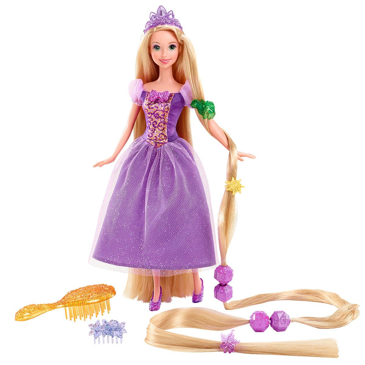 Disney Princess Кукла Рапунцель цвет платья сиреневыйY0973Кукла Disney Princess Рапунцель поможет вашей малышке окунуться в сказочный мир. Куколка выполнена в виде главной героини мультфильма одноименного мультфильма. Она одета в длинное шикарное платье, на ногах - красивые туфельки, а на голове - очаровательная диадема. Также в комплект входят расческа, три заколочки, гребешок и четыре оригинальных украшения в виде крупных бусин, благодаря которым ваша дочурка сможет сделать куколке различные прически. Ваша малышка с удовольствием будет играть с принцессой, проигрывая сюжеты из мультфильма или придумывая различные истории.