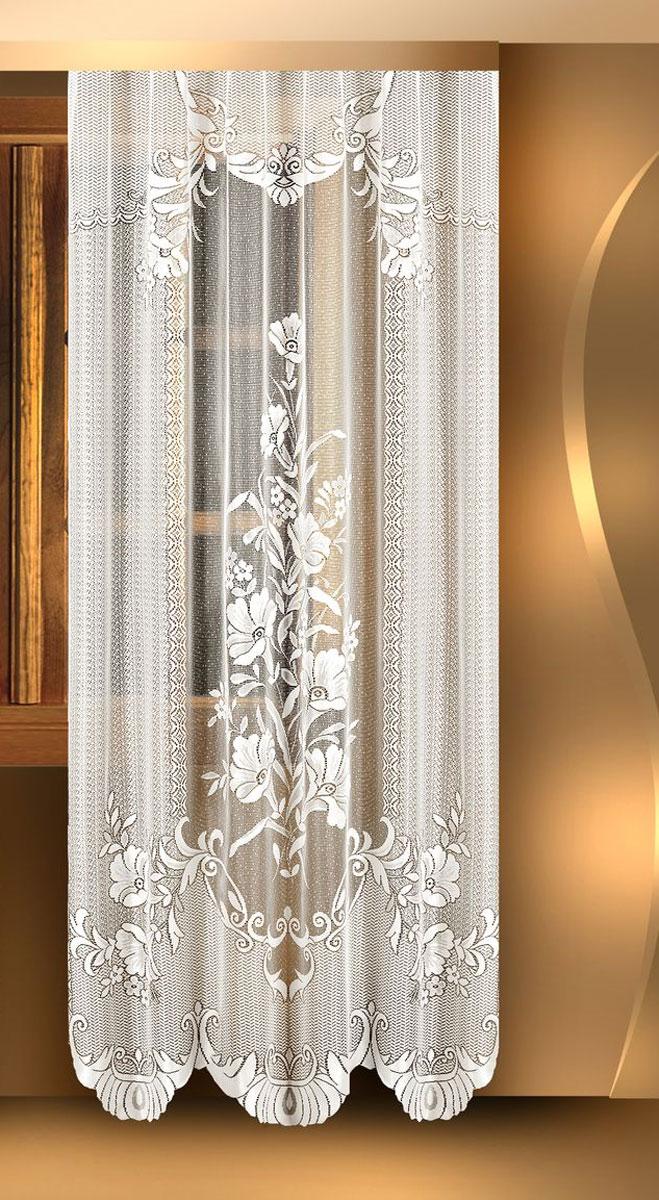 Гардина Zlata Korunka, цвет: белый, высота 245 см. 8882588825Воздушная гардина Zlata Korunka, изготовленная из полиэстера белого цвета, станет великолепным украшением любого окна. Гардина выполнена из сетчатого материала и декорирована цветочным рисунком. Тонкое плетение и оригинальный дизайн привлекут к себе внимание и органично впишутся в интерьер. Верхняя часть гардины не оснащена креплениями.