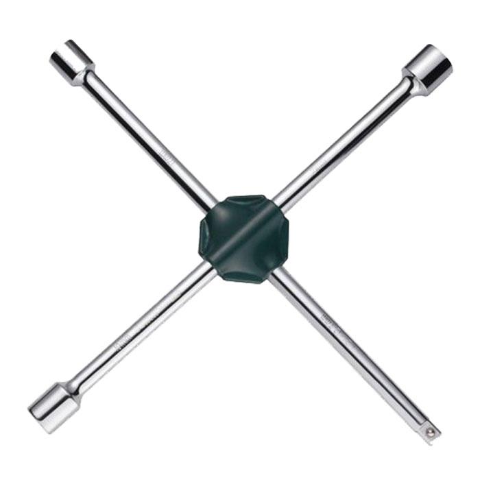 Ключ баллонный SATA, крестовой, 17 мм, 19 мм, 21 мм, 1/248101Баллонный ключ-крест SATA применяется для монтажа/демонтажа автомобильных колес. Такой инструмент является идеальным решением для использования в любых автосервисах. Данный ключ имеет три головки размерами 17 мм, 19 мм, 21 мм и 23 мм и переходник 1/2 на головку.