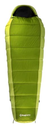 Мешок спальный KingCamp Desert 250 KS 3104, правосторонняя молния, цвет: зеленый, 215 см х 80 смУТ-000050411Спальник-кокон KingCamp Desert 250 KS 3104 - незаменимая вещь для любителей уюта и комфорта во время активного отдыха. Спальный мешок закрывается на двустороннюю застежку-молнию. Этот теплый спальный мешок-кокон спасет вас от холода во время туристического похода, поездки на рыбалку. Спальный мешок упакован в удобный нейлоновый чехол для переноски. Наполнитель: WarmLoft (Hollowfibre), 250 г/м2. Внешний материал: нейлон 210T нейлон Ripstop, легкий, износостойкий. Внутренний материал: полиэстер 65%, хлопок 35%.