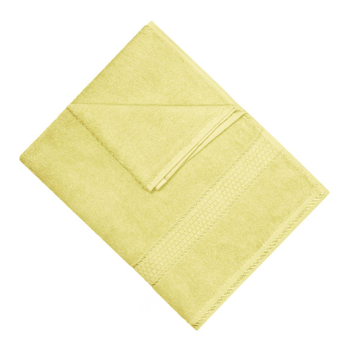 Полотенце махровое Osborn Textile, цвет: лимонный, 50 см х 90 смУзТ-МПМ-004-01-02В состав полотенца Osborn Textile входит только натуральное волокно - хлопок. Лаконичные бордюры подойдут для любого интерьера ванной комнаты. Полотенце прекрасно впитывает влагу и быстро сохнет. При соблюдении рекомендаций по уходу не линяет и не теряет форму даже после многократных стирок. Плотность: 450 г/м2.