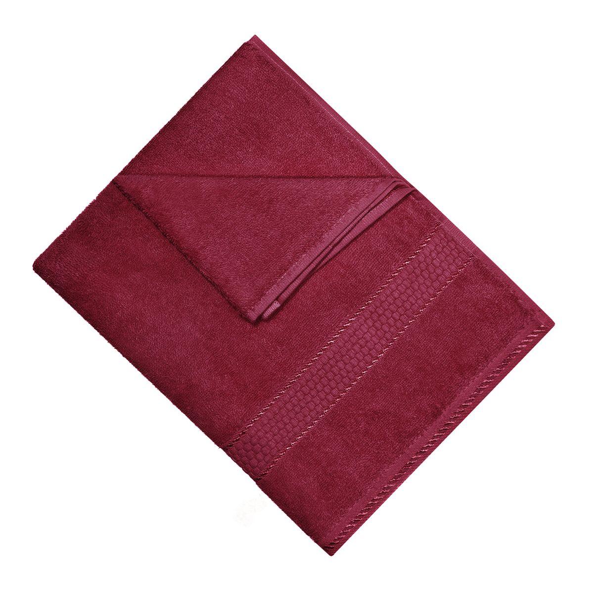 Полотенце махровое Osborn Textile, цвет: бордовый, 50 х 90 смУзТ-МПМ-004-01-18В состав полотенца Osborn Textile входит только натуральное волокно - хлопок. Лаконичные бордюры подойдут для любого интерьера ванной комнаты. Полотенце прекрасно впитывает влагу и быстро сохнет. При соблюдении рекомендаций по уходу не линяет и не теряет форму даже после многократных стирок. Плотность: 450 г/м2.