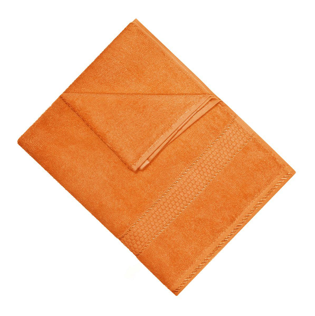 Полотенце махровое Osborn Textile, цвет: оранжевый, 50 х 90 смУзТ-МПМ-004-01-27В состав полотенца Osborn Textile входит только натуральное волокно - хлопок. Лаконичные бордюры подойдут для любого интерьера ванной комнаты. Полотенце прекрасно впитывает влагу и быстро сохнет. При соблюдении рекомендаций по уходу не линяет и не теряет форму даже после многократных стирок. Плотность: 450 г/м2.