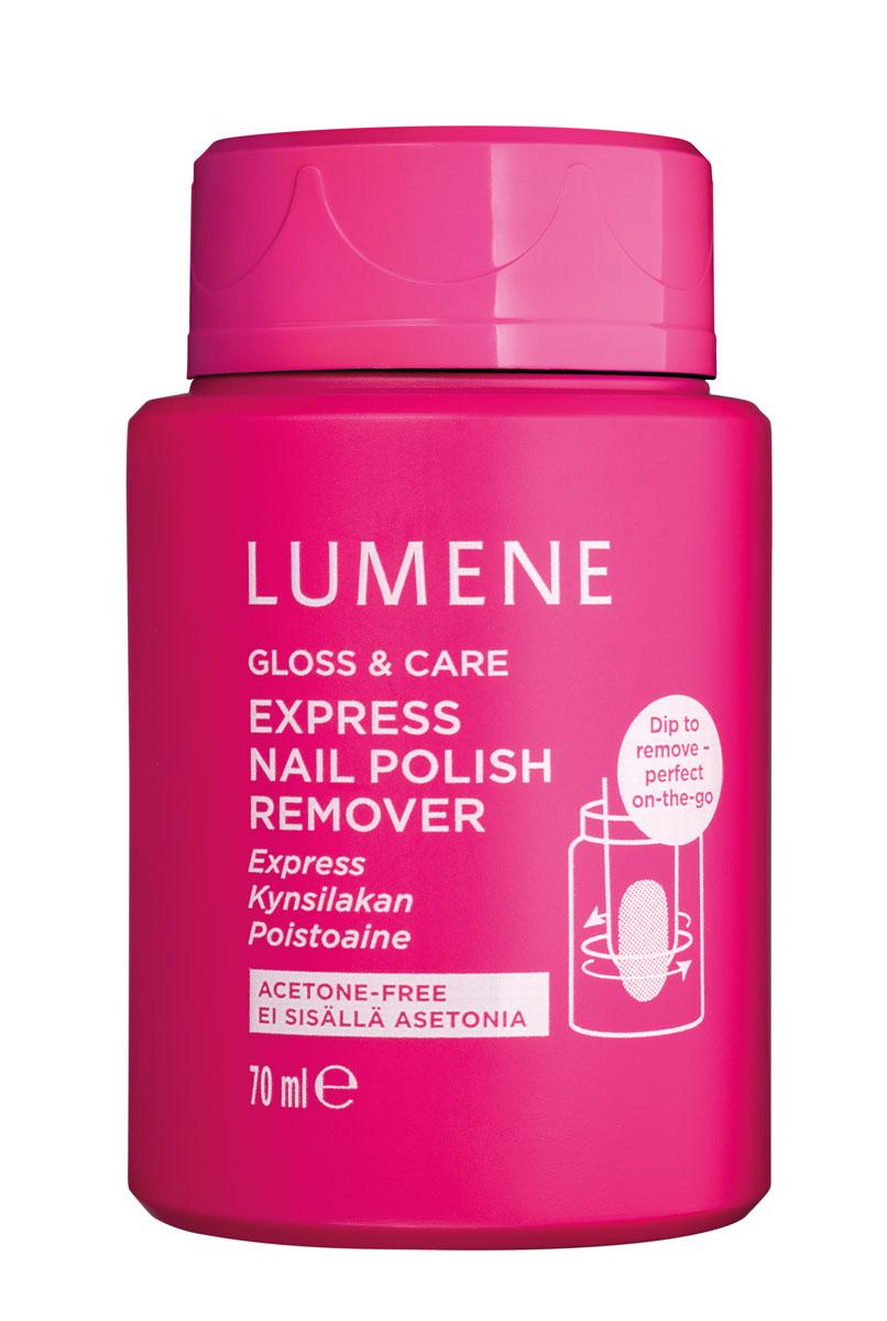 LUMENE Экспресс-средство для снятия лака Gloss & Care, 70 мл