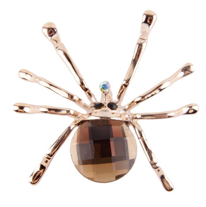 Брошь Длинноногий паук. Металл, австрийские кристаллы. Конец XX векаT-B-8303-BRAC-TURQUOISEБрошь Длинноногий паук. Металл, австрийские кристаллы. Западная Европа, конец XX века. Размеры 5 х 5 см. Сохранность хорошая. Стильная брошь, выполненная в виде золоченого паука. Оригинальный аксессуар украшен большим кристаллом светло-коричневого цвета . Эта изысканная брошь станет изысканным украшением для романтичной и творческой натуры и гармонично дополнит Ваш наряд, станет завершающим штрихом в создании образа.