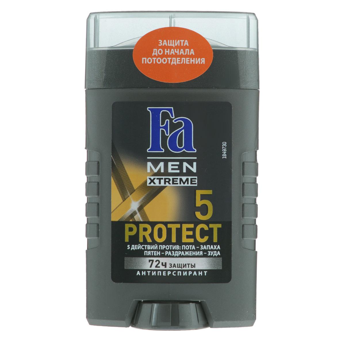 FA MEN Xtreme ���-���� Protect 5 , 50 �� - Fa1837762Fa MEN Xtreme Protect 5 � ����������� �������������� � 5 �������� ������: ����, ������, �����, ����������� � ����! ������������� ������� � ����������� Sweat Detect* ������� � ����� ��� �� ��� ���������. 72 ���� ����������������� ������ ������ ��������� � ������ ����. ������� � ���������� ������ � ������������ ���������� ��������. ������ ��������. ����� ������������ �������������� ��������, �������� ��� � ����� ��� ���� Fa Men Xtreme.