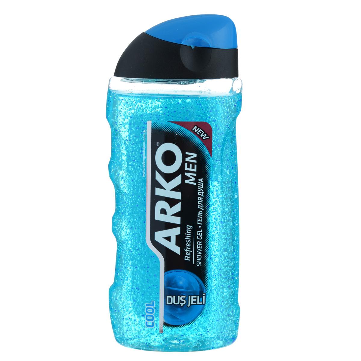 Arko MEN Гель для душа Cool 250 мл800563123Современное средство гигиены и ухода за кожей. Гели содержат натуральные ингредиенты, такие как морские минералы, экстракт сандалового дерева и алоэ вера, которые ухаживают за кожей. Также гели для душа ARKO MEN обладают дезодорирующим эффектом.