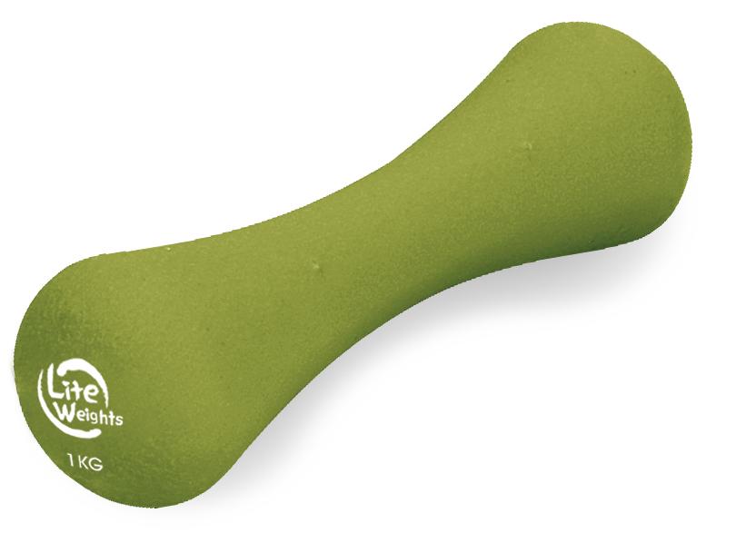 """Гантель неопреновая """"Lite Weights"""", цвет: зеленый, 1 кг 2950NP"""