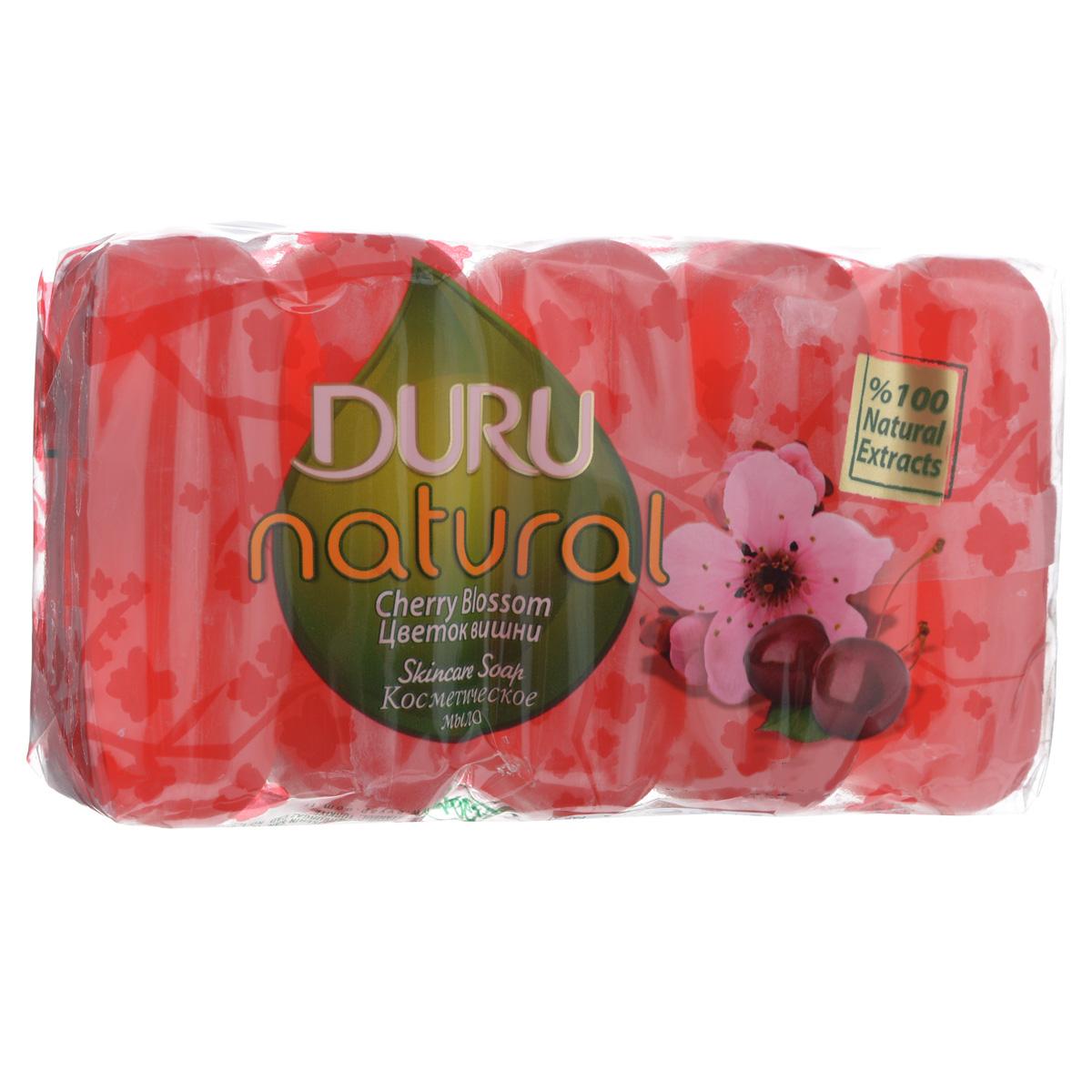 Duru NATURAL Мыло Цветок вишни э/пак 5*70г800031781Прозрачное глицериновое мыло с природными маслами и экстрактами для бережной заботы о Вашей коже ?Дополнительное увлажнение и смягчение благодаря глицерину ?Натуральные экстракты ?Высокое качество продукции