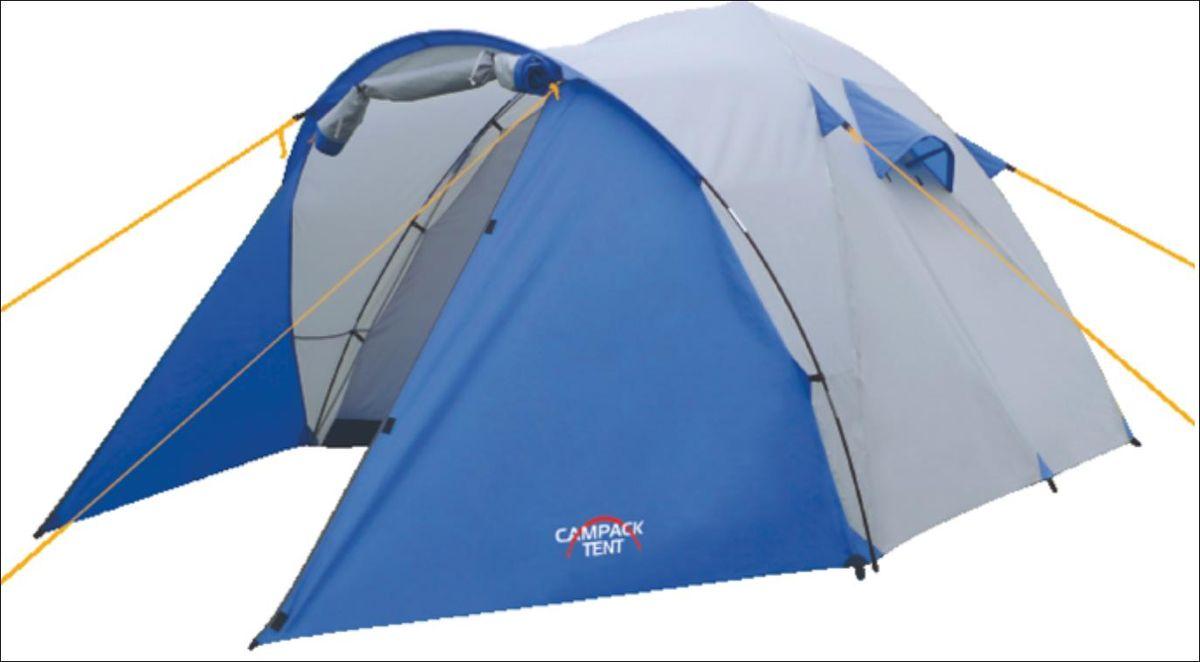 Палатка Campack Tent Storm Explorer 3, цвет: серо-синий37649Storm Explorer 2 (3, 4) Универсальная палатка для несложных походов и семейного отдыха на природе Конструкция позволяет использовать ее как ранней весной, так и во время осенних выездов, когда погода меняется каждую минуту. Модель Storm имеет два раздельных входа. Основной вход надежно защищен боковыми тентовыми «крыльями», которые предотвращают задувание холодного воздуха, при сильных порывах ветра. • Высокопрочное дно изготовлено из армированного полиэтилена, не пропускает влагу и устойчиво к истиранию. • Каркас, изготовленный из фибергласса, обеспечивает надежность и устойчивость. • Палатка оснащена увеличенными вентиляционными окнами, клапаном от косого дождя и двухслойным входом с цветными молниями. • Внешнее крепление третьей дуги, значительно облегчает установку палатки. • Внутри палатки имеется подвеска для фонаря и карманы для хранения мелочей. • Проклеенные швы гарантируют герметичность и надежность в любой ситуации. цвет: синий/серый, состав: 100% полиэстер , упаковка:...