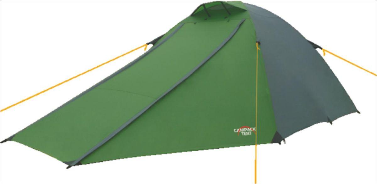 Палатка Campack Tent Forest Explorer 3, цвет: зеленый, серый0037640Универсальная купольная палатка Forest Explorer 3 для несложных походов и семейного отдыха на природе. Особенности: Высокопрочное дно изготовлено из армированного полиэтилена, не пропускает влагу и устойчиво к истиранию. Каркас, изготовленный из фибергласса, обеспечивает надежность и устойчивость. Палатка оснащена увеличенными вентиляционными окнами, клапаном от косого дождя и двухслойным входом с цветными молниями. Дополнительный пол в тамбуре позволяет обеспечить больший комфорт при эксплуатации. Внутри палатки имеется подвеска для фонаря и карманы для хранения мелочей. Размер палатки: 350 см х 220 см х 135 см. Размер спальной комнаты: 215 см х 210 см х 135 см.