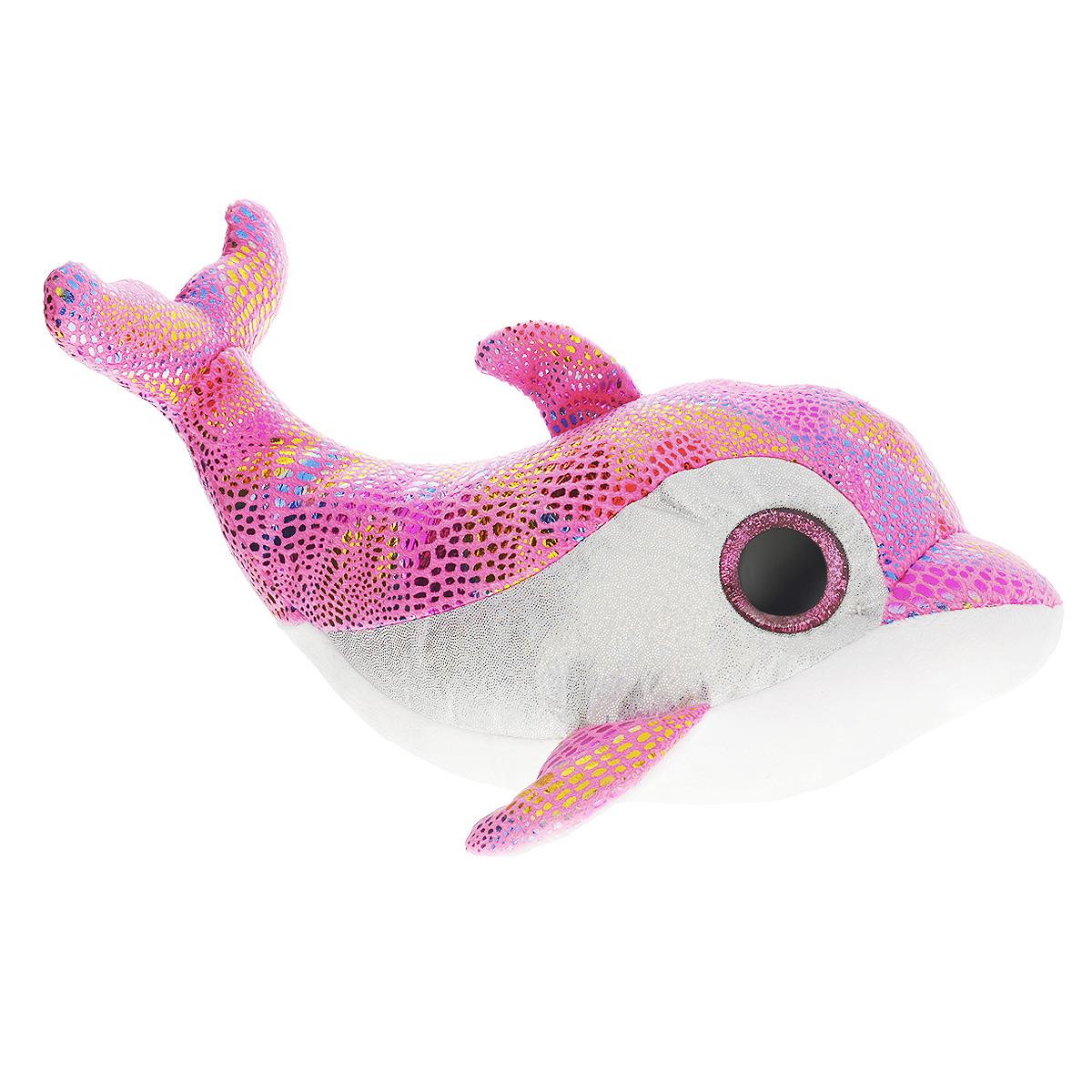 Мягкая игрушка Beanie Boos Дельфин Surf, цвет: розовый, 28 см37011Очаровательная мягкая игрушка Beanie Boos Дельфин Surf, выполненная в виде трогательного дельфина, непременно вызовет улыбку и симпатию и у детей, и у взрослых. Милый дельфинчик с выразительными искрящимися глазками изготовлен из высококачественного мягкого текстильного материала с набивкой из синтепона. Как и все игрушки серии Beanie Boos, он изготовлен вручную, с любовью и вниманием к деталям. Удивительно мягкая игрушка принесет радость и подарит своему обладателю мгновения нежных объятий и приятных воспоминаний.Специальные гранулы, используемые при ее набивке, способствуют развитию мелкой моторики рук малыша. Великолепное качество исполнения делают эту игрушку чудесным подарком к любому празднику. Трогательная и симпатичная, она непременно вызовет улыбку у детей и взрослых.