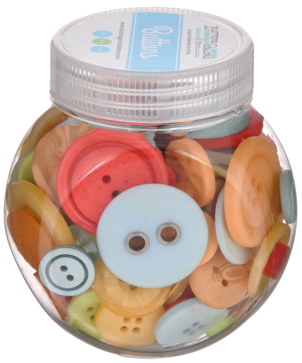 Пуговицы декоративные Buttons Galore & More Button Jars, цвет: персиковый, салатовый, красный, 115 г. 77088827708882_ЦитрусовыйНабор пуговиц для творчества и декорирования одежды Buttons Galore & More Button Jars изготовлен из высококачественного пластика. В набор входят пуговицы различных размеров и с разным количеством отверстий. Такие пуговицы подходят для любых видов творчества: скрапбукинга, декорирования, шитья, изготовления кукол, а также для оформления одежды. С их помощью вы сможете украсить открытку, фотографию, альбом, подарок и другие предметы ручной работы. Пуговицы имеют оригинальный и яркий дизайн. Средний диаметр пуговиц: 1,7 см.