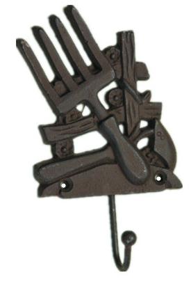 Вешалка СадGBL3-1088Вешалки и крючки, изготовленные из чугуна, красивые и практичные в повседневной жизни вещи. Крепкие и надежные чугунные крючки прослужат долгие-долгие годы.