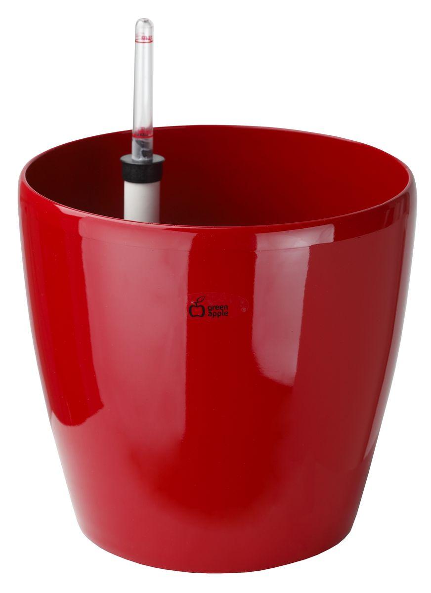 Горшок Green Apple с системой автополива, цвет: красный, диаметр 37 смGPRW5-03-RКруглый горшок Green Apple, выполненный из полипропилена, имеет уникальную систему автополива, благодаря которой корневая система растения непрерывно снабжается влагой из резервуара. Уровень воды в резервуаре контролируется с помощью специального индикатора. В зависимости от размера кашпо и растения воды хватает на 2-12 недель. Диаметр горшка (по верхнему краю): 37 см. Высота горшка: 35 см.