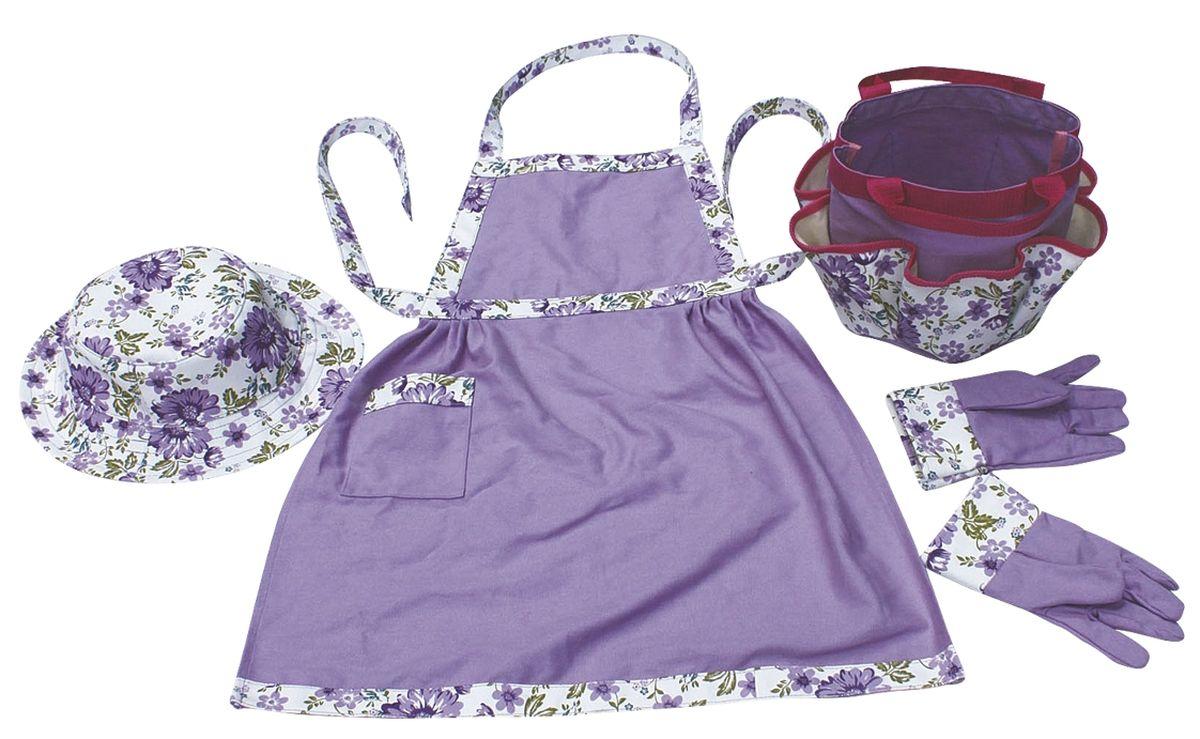 Набор подарочный 4 предмета: перчатки, сумка, фартук, панама