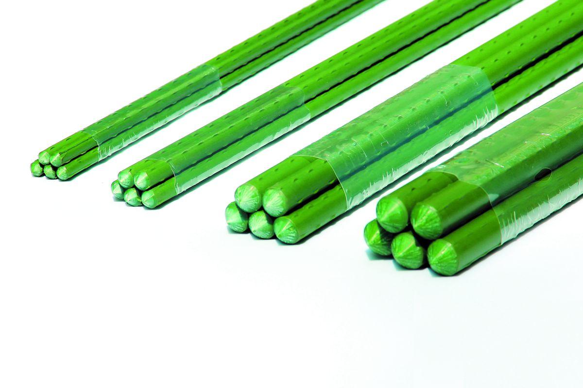 Опора для растений Green Apple, цвет: зеленый, диаметр 1,1 см, длина 75 см, 5 штGCSP-11-75Опора для растений Green Apple выполнена из высококачественного металла, покрытого цветным пластиком. В наборе 5 опор, выполненных в виде ствола растения с шипами. Такие опоры широко используются для поддержки декоративных садовых и комнатных растений. Также могут применяться для поддержки вьющихся растений в парниках. Диаметр опоры: 1,1 см. Комплектация: 5 шт.