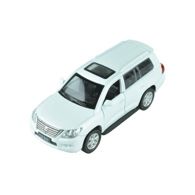 Maxi Toys Модель автомобиля Lexus 570 цвет белыйCP-67308-WМашинка металлическая инерционная. Функции : инерционный двигатель; открывание дверей (опционально капот/багажник).