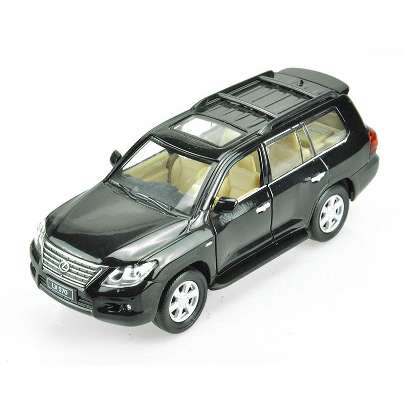 Maxi Toys Модель автомобиля Lexus 570 цвет черныйCP-68301-BLМашинка металлическая инерционная. Функции : инерционный двигатель; открывание дверей (опционально капот/багажник); звук; свет.